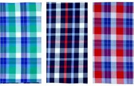 SAHYOG Cotton Polyester Blend Checkered Shirt Fabric, Kurti Fabric, Multi-purpose Fabric