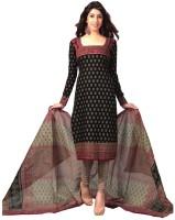 Javuli Cotton Floral Print Dress/Top Material - Unstitched