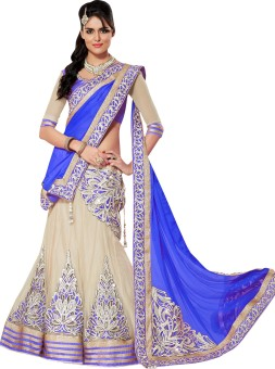 Embroidered Dress Material Creation Georgette Embroidered Semi-stitched Lehenga Choli Material