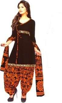 Women Shoppee Cotton Floral Print Salwar Suit Dupatta Material Un-stitched