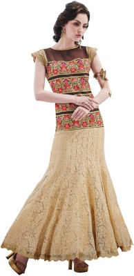 Inddus Net, Jacquard Embroidered Salwar Suit Dupatta Material available at Flipkart for Rs.4725