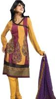 Mehak Chiffon Printed Semi-stitched Salwar Material Fabric Unstitched