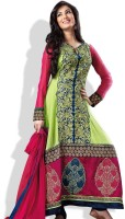 Adaa Synthetic Printed Salwar Material Fabric Unstitched