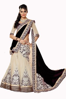 Vistara Lifestyle Georgette Embroidered Semi-stitched Lehenga Choli Material