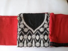 cottoning Cotton Embroidered Suit Fabric