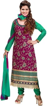 Jevi Prints Cotton Embroidered Salwar Suit Dupatta Material Un-stitched - FABE6FWZSA7HVWH5