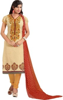 Merito Cotton Printed Suit Fabric, Kurta & Churidar Material, Salwar Suit Material, Dress/Top Material, Salwar Suit Dupatta Material Un-stitched