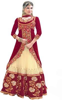 Vishal Enterprise Net Embroidered Semi stitched Salwar Suit Dupatta Material available at Flipkart for Rs.10368