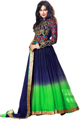 Resham Fabrics Velvet, Net Embroidered, Solid Semi stitched Salwar Suit Dupatta Material available at Flipkart for Rs.4599