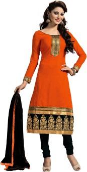Touch4u Chanderi, Cotton Polyester Blend Self Design, Embroidered Salwar Suit Dupatta Material Un-stitched