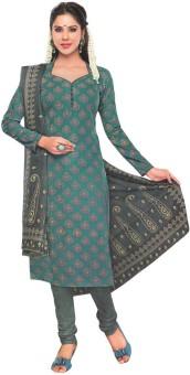 Javuli Cotton Floral Print Dress/Top Material Unstitched