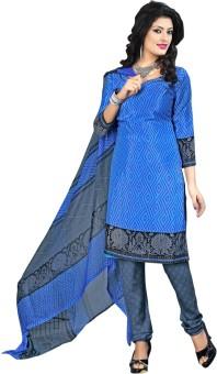 Vastrangam Crepe Printed Semi-stitched Salwar Suit Dupatta Material Semi-stitched - FABEASSVYHAMUSFZ