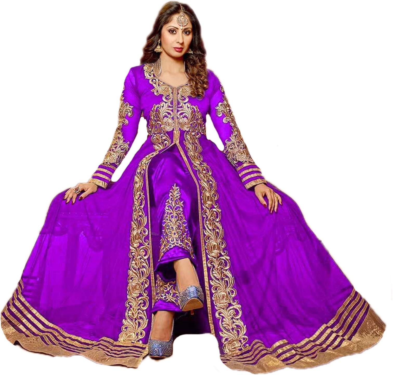 Khazanakart Net Embroidered Dress/Top Material