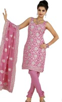 Mehak Crepe Printed Semi-stitched Salwar Material Fabric Unstitched