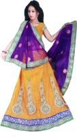 Sonakshi Creation Net Self Design Semi-stitched Lehenga Choli Material - Unstitched