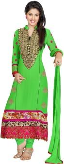 Slassy Georgette, Chiffon Self Design Salwar Suit Dupatta Material Unstitched