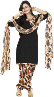 Pitchkari Cotton Polyester Blend Polka Print Salwar Suit Dupatta Material (Unstitched)