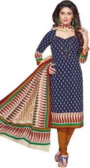 Salwar Studio Cotton Floral Print, Paisley Salwar Suit Dupatta Material Un-stitched