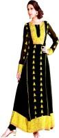 Rati Fashions Georgette Solid Semi-stitched Salwar Suit Dupatta Material Fabric Unstitched