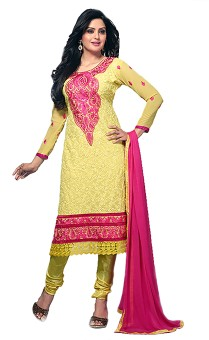 Your Choice Georgette, Synthetic, Chiffon Self Design Salwar Suit Dupatta Material Unstitched