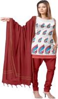 Platinum Cotton Animal Print Dress/Top Material - Unstitched