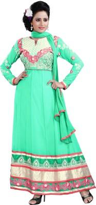 Lifestyle 7 Colors Lifestyle Georgette Self Design Semi-Stitched Salwar Suit Dupatta Material (Multicolor)