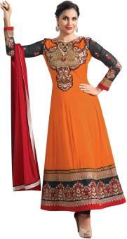 Lineysha Boutique Georgette, Crepe, Chiffon Self Design Salwar Suit Dupatta Material Unstitched