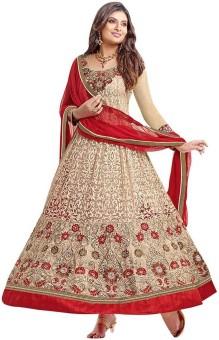 Javuli Brocade, Art Silk, Organza Embroidered Salwar Suit Material Un-stitched