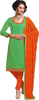 Dilwaa Chanderi Embroidered, Self Design Salwar Suit Dupatta Material Un-stitched