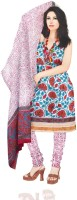 Unnati Silks Cotton Floral Print Salwar Material Fabric Unstitched
