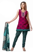Anamika Crepe Printed Dress/Top Material Fabric Unstitched