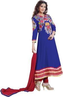 Lineysha Boutique Georgette, Satin, Chiffon Self Design Semi-stitched Salwar Suit Dupatta Material Unstitched