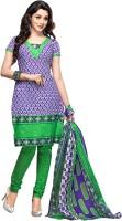 Aarika Cotton Floral Print Salwar Suit Dupatta Material - Unstitched