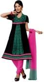 Salwar Studio Georgette Floral Print Salwar Suit Dupatta Material Unstitched