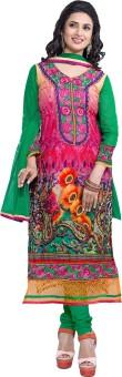 Jiya Satin Self Design, Floral Print, Embroidered Salwar Suit Dupatta Material Un-stitched