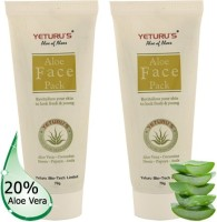 Yeturu's Aloe Face Pack (Aloe Vera 20%) 70gms (Pack Of 2no'S) (140 G)