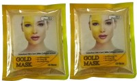 Skin Doctor Glod Mask For Skin Whitening With Collagen Extract Pack Of 2 (80 G)