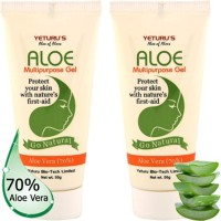 Yeturu's Aloe Multipurpose Gel (Aloe Vera 70%) 50gms (Pack Of 2nos) (100 G)