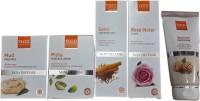 VLCC SKIN DEFENSE With Rose Water, Sandal Cleansing Milk, Walnut Scrub, Mud Pack, Pista Massage Cream (400 G)
