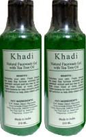 Khadi Herbal Natural Tea Tree Oil (Twin Pack) (420 Ml) Face Wash (420 Ml)