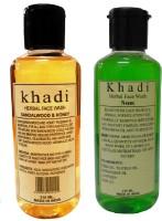 Khadi Herbal Sandalwood & Honey And Neem Combo Face Wash (420 Ml)