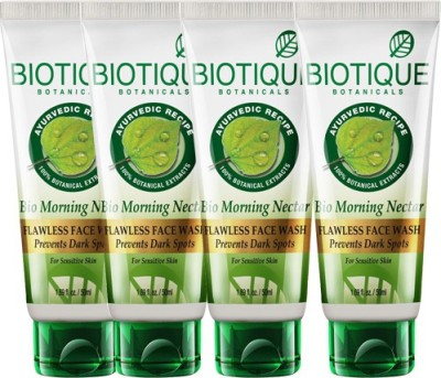 Biotique Bio Morning Nectar Flawless Face Wash Pack Of 4 Face Wash (200 Ml)