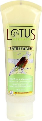 Lotus Herbals Tea Tree & Cinnamon Anti Acne Oil Control Face Wash 50 g