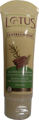 Lotus Herbals Tea Tree & Cinnamon Anti Acne Oil Control Face Wash 120 g