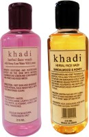 Khadi Herbal Rose Water & Sandalwood Honey Face Wash (420 Ml)