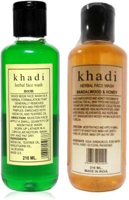 Khadi Herbal Face Wash Pack Of 2 Face Wash (420 Ml)