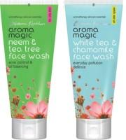 Aroma Magic Neem And Tea Tree ,White Tea & Chamomile Face Wash (200 G)