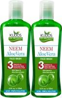 Kudos Ayurveda Neem Aloevera Face Wash Ayurvedic X2 Pack Face Wash (240 Ml)