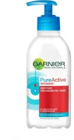 Garnier Face Washes Garnier Skin Naturals Pure Active Deep Pore Unclogging Wash Face Wash
