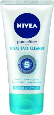 Nivea Pure Effect Total Face Clean Up Face Wash Price In India Buy Nivea Pure Effect Total